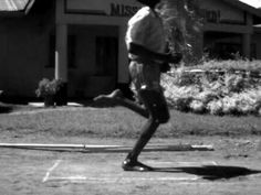 The running stride of a young Kenyan who has never worn shoes.