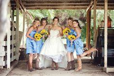 Blue yellow boots wedding
