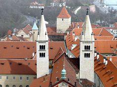 St.George romanesque basilic, Prague, Czechia Prague Cz, Prague Castle, European Countries, Romanesque, Czech Republic, Places To Visit, City, World, Amazing