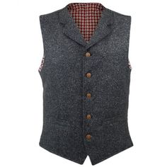Gibson London UK | Donegal Charcoal Waistcoat