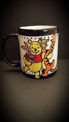 Hand Painted Winnie the Pooh Mug By Kimberley Holland