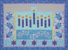 chanukah quilted wall hanging