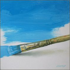 First You Do the Sky paint brush, painting by artist Don Gray