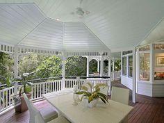 Queenslander Verandah just perfect..lovely renovation.