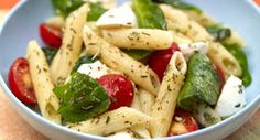 Penne Pasta Salad with Spinach and Tomatoes: With a triple hit of spices from the rosemary, thyme and oregano, this pasta salad is sure to stand out at a summer potluck.