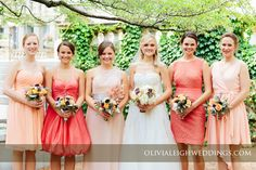 A gorgeous bride and her lovely bridesmaids! Photo by @Olivia Leigh Flowers by Fleur