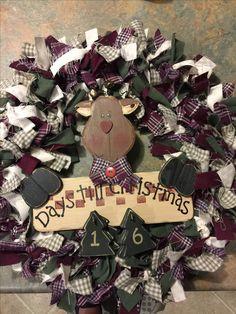 Christmas wreath (fabric)