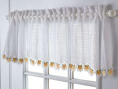 filet crochet valance 10 Beautiful Free Crochet Curtain Patterns ...