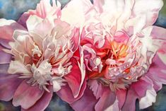 """""""Sherbet""""  24""""x36"""" oil on canvas by Neiley Harris: I adore her peony paintings #Neiley_Harris"""
