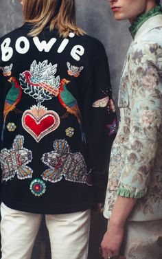 Gucci menswear backstage | Bowie <3