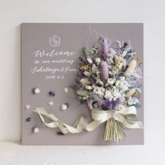 Flower Shadow Box, Flower Boxes, Flower Cards, Paper Flowers Craft, Diy Flowers, Dried Flower Arrangements, Wedding Cards Handmade, Dried Flower Bouquet, Welcome To Our Wedding