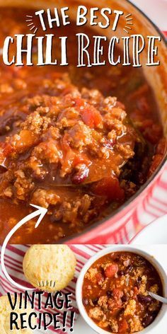 Chili Recipe Stovetop, The Best Chili Beans Recipe, Homemade Chilli Recipe, Best Easy Chili Recipe, Chili Recipe In Dutch Oven, Best Cowboy Chili Recipe, Chili Recipe With Chicken Broth, Homemade Chili Recipe With Pinto Beans, Chili Recipe Using Tomato Juice