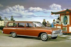 Impala station wagon… 1962 Chevrolet color press release photo