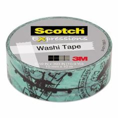 "Scotch Expressions Washi Tape, .59"" x 393"", Airplane MMMC314P25"