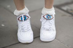 Pin for Later: Everyone Saved the Best Accessories For Last at MFW LFW Day Three Nike sneakers