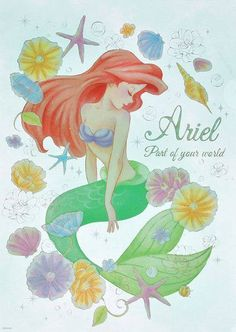 Mermaids Fantasy art ( Sirènes/Mermaids/Sirenas) added a new photo to the album: The Little Mermaid Disney Pixar, Arte Disney, Disney Fan Art, Disney Animation, Disney Love, Disney Magic, Disney Little Mermaids, Ariel The Little Mermaid, Disney Girls