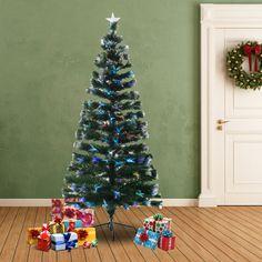 Este Árbol de Navidad sintético viene decorado con fibras de vidrio de colores e incluye la estrella de Navidad de la parte superior. Ademés incluye luces LED de 7 colores que cambian de forma aleatoria. Es ideal para decorar tu hogar para Navidad. Es fácil y rápido de montar. Sus medidas son 84x180cm. Puedes comprarlo online en https://www.aosom.es/hogar/arbol-de-navidad-84-x-180cm-arbol-de-fibra-optica-con-230-luces-led-verde-nuevo.html con envíos gratis a España y Portugal en 24h/48h.