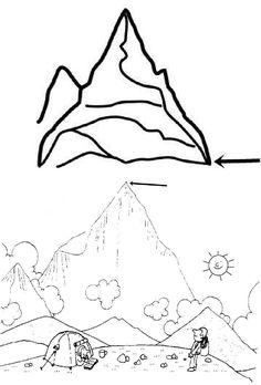 La Montagna Disegni Da Colorare Geografia Geo
