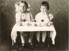 these girls know the real value of tea time.  plotting revenge of course.....