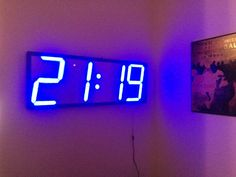 Really big, minimal-style digital clock.