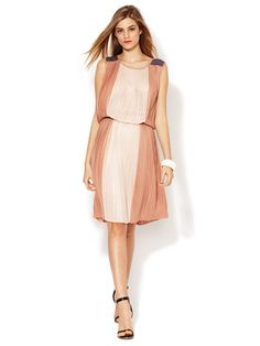BCBGMAXAZRIA Sofi Color Block Dress
