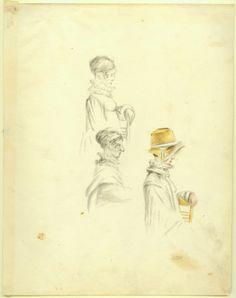 Portrait studies, Anna Maria Von Phul, 1818 Bonnets and collars Red Hook, Regency, St Louis, Missouri, 19th Century, Collars, Anna, Portraits, Paintings