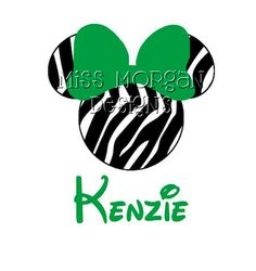 Personalized+Minnie+Mouse+Zebra+iron+on+decal+vinyl+by+MissMorgan,+$7.00