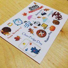 October Stickers. Follow us on the Instagram @papypaper.  #october #thanksgivingday #buttonsday #blackfriday #Stikers #planners #plannersprintable #printablestickers #erincondren #kikkik #filofax #plumpaper