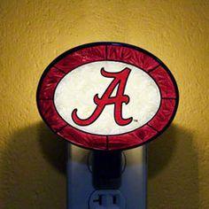 Alabama Crimson Tide Art Glass Nightlight $16.99 http://www.fansedge.com/Alabama-Crimson-Tide-Art-Glass-Night-Light-_1345481385_PD.html?social=pinterest_pfid50-09521