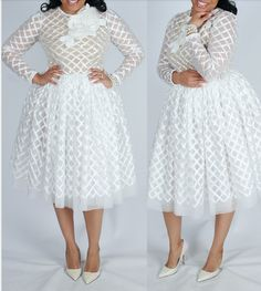 The Adore Dress is a beautiful look that can be worn to many different occasions! It's constructed from a gorgeous textured satin grid design. African Wear Dresses, Latest African Fashion Dresses, African Print Fashion, African Attire, Lace Dress Styles, Ankara Dress Styles, Elegant Dresses, Beautiful Dresses, All White Party Outfits