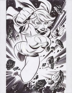 Bruce Timm - Powergirl, in Kevin Ono's Bruce Timm (nudity) Comic Art Gallery Room Bruce Timm, Comic Book Artists, Comic Artist, Comic Books Art, Cartoon Styles, Cartoon Art, Character Art, Character Design, Hq Dc