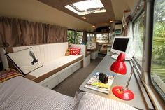 Bedford Bus to Tiny House Conversion Photo