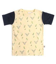 Camiseta Ciervos de Tiralahilacha. Algodón orgánico. Ropa sostenible