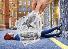 "O duelo ""Pencil vs Camera"" de Ben Heine"