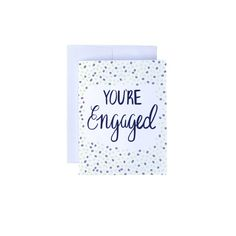 You're Engaged Card  Congrats Card Engagement by MadelieneDesigns