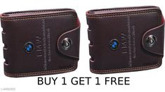 Checkout this latest Wallets Product Name: *FASHLOOK BUY ONE GET ONE FREE BMW WALLET* Material: Leather No. of Compartments: 5 Pattern: Solid Multipack: 2 Sizes: Free Size (Length Size: 12 cm, Width Size: 10 cm)  Easy Returns Available In Case Of Any Issue   Catalog Rating: ★3.9 (3154)  Catalog Name: FancyModern Men Wallets CatalogID_1431744 C65-SC1221 Code: 432-8486489-999