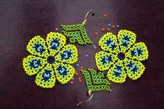 Flower Earrings, Beaded Earrings, Crochet Earrings, Beading Projects, Mandala, Base, Inspire, Flowers, Inspiration