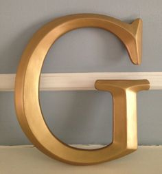 Large wall letter Large G Initials Monogram by LyricalExpressions