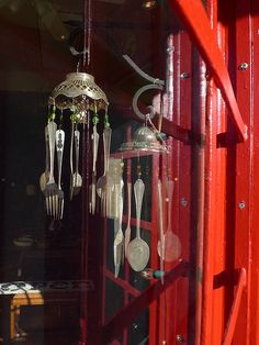 Windchimes - Use grandmas old cutlery, a nice keepsake to hand down from one generation to the next.
