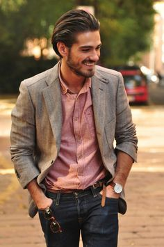 Casual Men's fashion - blazer with jeans Sharp Dressed Man, Well Dressed Men, Fashion Moda, Mens Fashion, Fashion Guide, Fashion 2016, Fashion Outfits, Stylish Men, Men Casual
