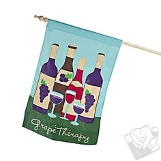 Grape Therapy Applique Flag at Wine Enthusiast - $19.99