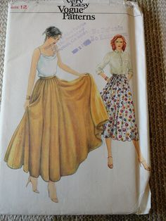Vintage 70s Very Easy Vogue Pattern 7340 Full Circle Skirt Sz 12 UNCUT. $10.00, via Etsy.