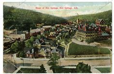 Heart of Hot Springs The card was mailed on 9/11/1909. Arkansas State Archives G5108.7