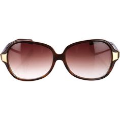 Pre-owned Oliver Peoples Oversize Tortoiseshell Sunglasses ($75) ❤ liked on Polyvore featuring accessories, eyewear, sunglasses, brown, brown tortoise shell glasses, oliver peoples sunglasses, tortoiseshell glasses, oversized eyewear and oversized tortoise sunglasses