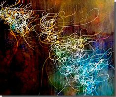 Lyrical Abstraction and Abstract Calligraphy by Nuno de Matos