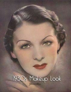 30-tallet by sara_solvang12 on Pinterest | 1930s Makeup ...