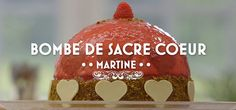 Bombe de Sacre Coeur Holland, Christmas Bulbs, Good Food, Sweets, Baking, Holiday Decor, Desserts, Sacred Heart, Bavarian Cream