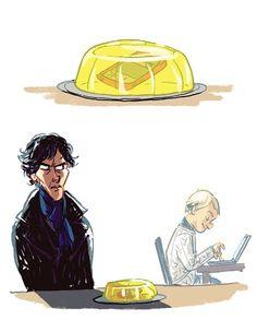 Oh man, a BBC The Office/Sherlock cross over. I want them to work this… Sherlock Bbc, Sherlock Fandom, Sherlock Fan Art, Johnlock, Sherlolly, 221b Baker Street, Moriarty, John Watson, Martin Freeman