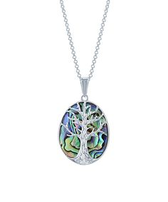 Look what I found on #zulily! Abalone & Sterling Silver Tree Pendant Necklace by Simona #zulilyfinds