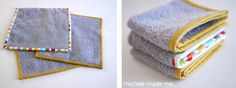 Recycle old towels into new washcloths.